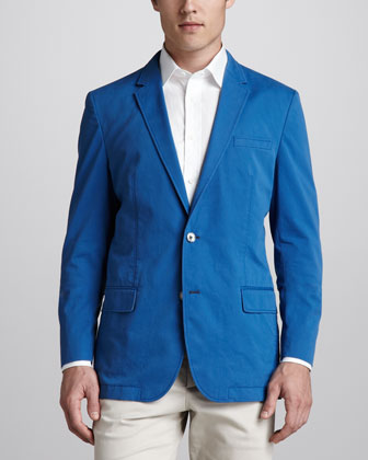 Washed Twill Jacket, Bright Blue