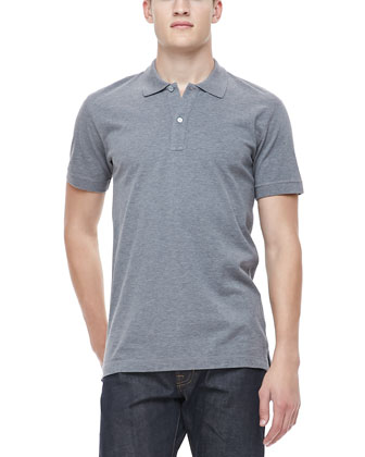 Logo Polo Shirt, Gray