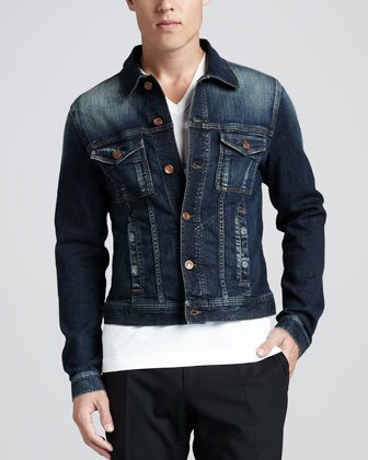 Jean Jacket with Logo Plaque