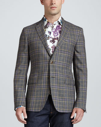 Wool Plaid Sport Coat