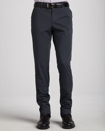 Cotton-Twill Pants, Dark Gray