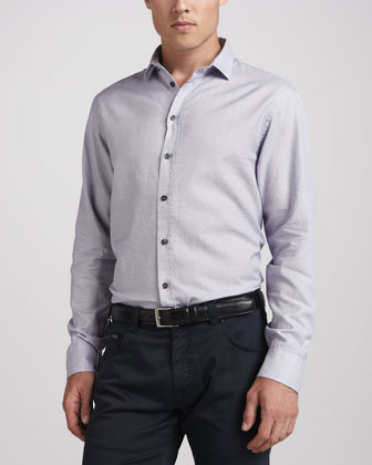 Basketweave Dress Shirt, Lavender