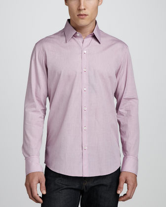 Villescaz Long-Sleeve Check Sport Shirt