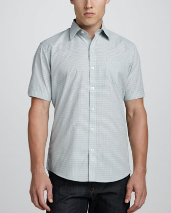Harvey Short-Sleeve Plaid Camp Shirt