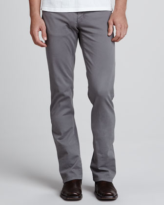 5011 Straight-Leg Twill Jeans, Dark Gray