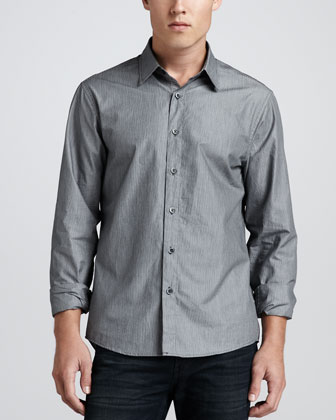 Fine-Stripe Tailored Fit Shirt