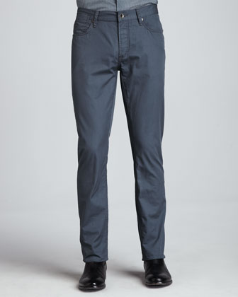 Five-Pocket Bowery Pants, Blue