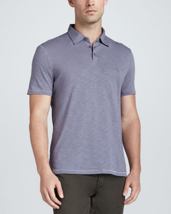 Heathered Slub Polo Shirt