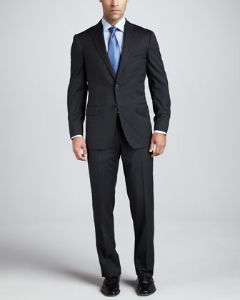 Multiseason Two-Button Suit, Gray