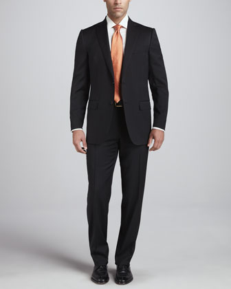 Seasonless Wool Suit, Black