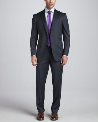 Thick Woven Two-Button Suit
