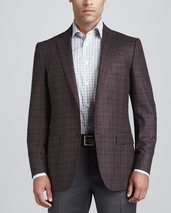 Plaid Thick Woven Sport Coat