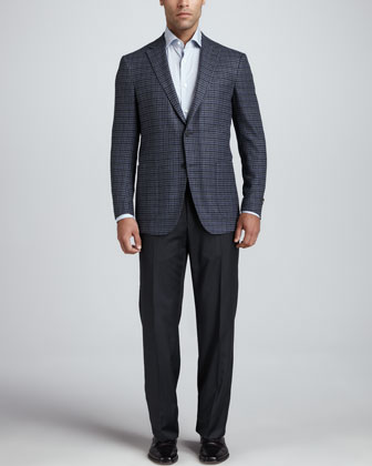Thick-Woven Check Jacket