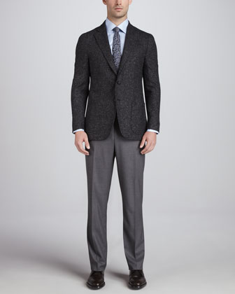Donegal Tweed Sport Coat, Charcoal
