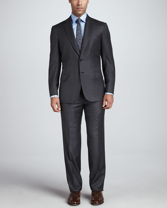 Wool Two-Piece Suit, Gray