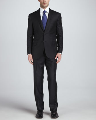 Wool Two-Piece Suit, Black