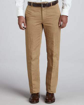 Straight-Leg Chino Pants, Khaki
