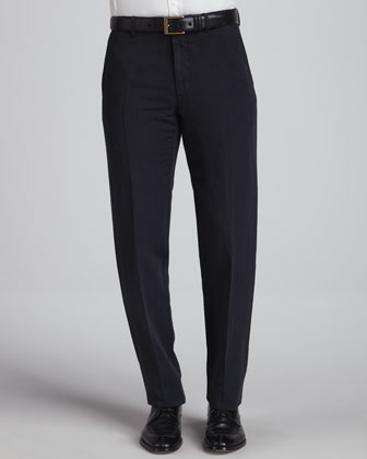 Straight-Leg Chino Pants, Navy