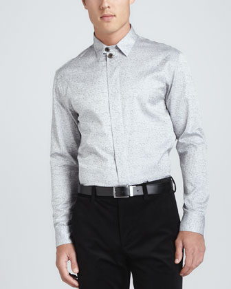 Broken Glass Dress Shirt, Light Gray