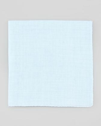 Linen Pocket Square, Light Blue