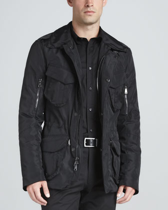 Cargo Escape Jacket, Signature Mesh Polo & Stretch Twill Pants, Black