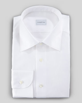 Twill Dress Shirt, White