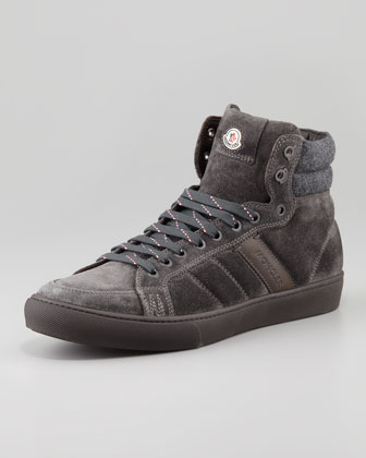 Lyon Suede High-Top Sneaker, Gray