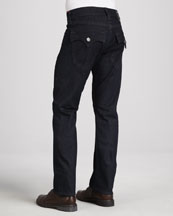 Ricky Stretch-Denim Jeans, Dark Blue