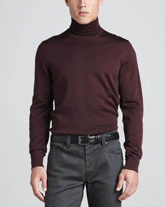 Classic Turtleneck, Burgundy