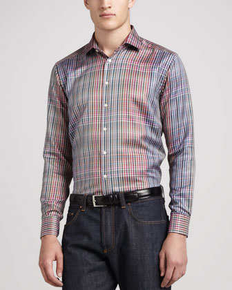 Bright Glen Plaid Sport Shirt, Multi