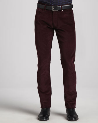 5-Pocket Corduroy Pants, Wine