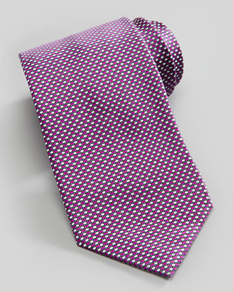New Neat Silk Tie, Purple