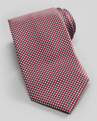 New Neat Silk Tie, Red