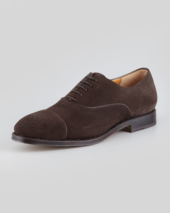 Tramezza Suede Cap-Toe Oxford