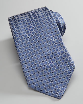 Diamond Silk Tie, Steel Gray