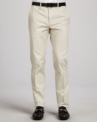 Cotton Gabardine Pants, Light Khaki