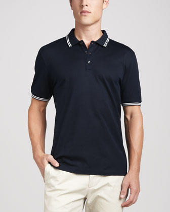 Button Polo, Blue