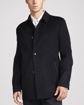 Ortiz Reversible Car-Coat Navy