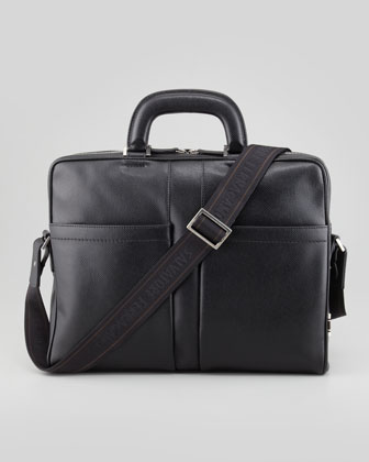 Los Angeles Leather Briefcase, Black