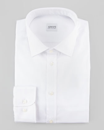 Diagonal Stripe Dress Shirt, White