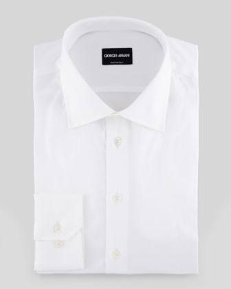Solid Dress Shirt, White
