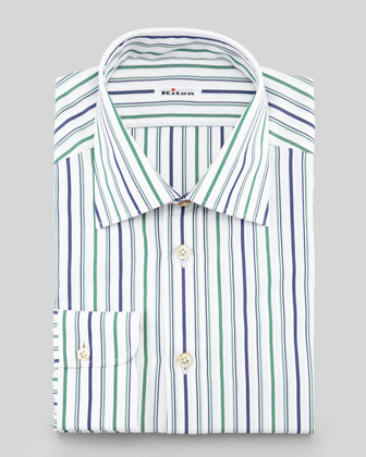 Striped Dress Shirt, Green