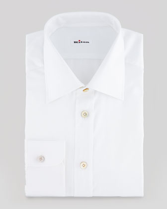 Solid Basic Dress Shirt, White