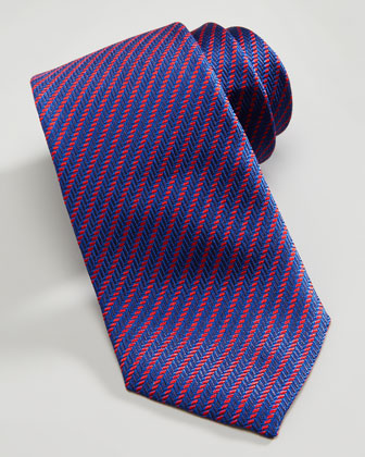 Diagonal Rope Stripe Tie, Navy