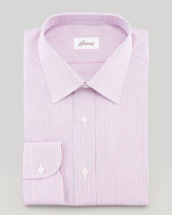 Multi-Stripe Dress Shirt, Pink