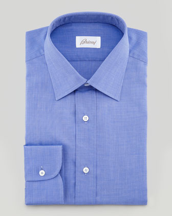 Solid Dress Shirt, Blue