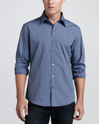 Baragar Dot Shirt, Blue