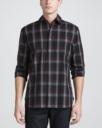 Plaid Pocket Shirt, Scarlet