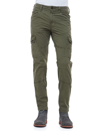 Trooper Garment-Dyed Cargo Pants, Forest Green