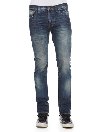 Rambler Slim-Fit Selvedge Jeans, 1YR Medium Blue